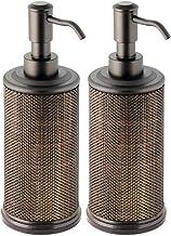 mDesign Juego de 2 dispensadores de jabón Recargables – Dosificadores de jabón, Crema o lavavajillas – Dosificador de baño...