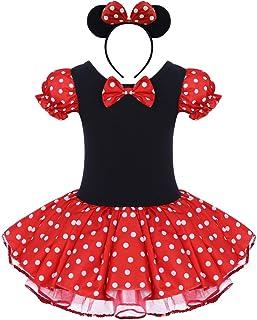 Costume per Halloween o carnevale da Minnie, per bambina Polka Dots Tutu Principessa Abiti per Natale Festa Cerimonia Comp...