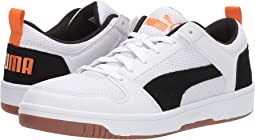 Puma White/Puma Black/Jaffa Orange/Gum