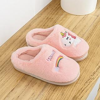 Chaussons Pantoufles Chambre Hiver Intérieur Chaud Enfants Pantoufles Mignon Licorne Dessin Animé Garçons Filles Chambre P...