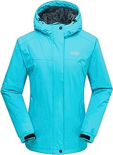 Wantdo Chaqueta para Mujer de Esquí de Montaña