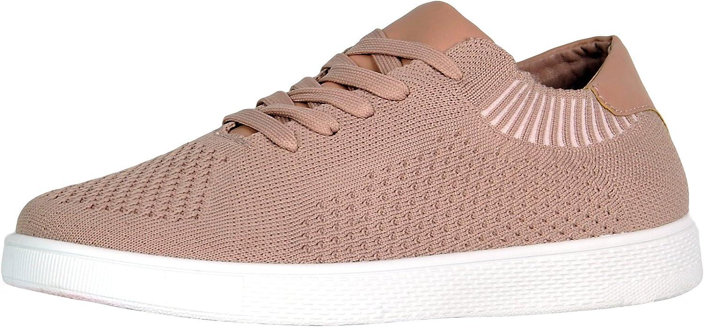 Refresh Footwear Women's Mesh Knit Athletic Fashion Sneaker