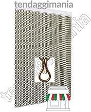 TENDAGGIMANIA Cortina antimosquitos para Puertas y Ventanas Modelo Cadena de Aluminio, Varios tamaños
