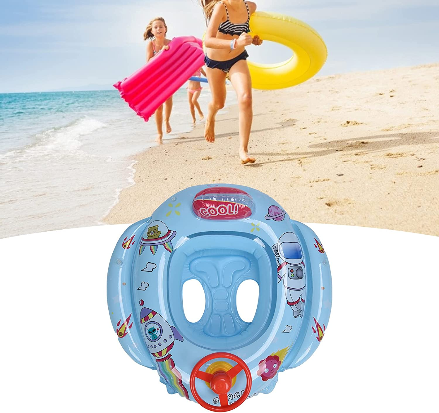 01 Swim Ring for security Toddlers Bargain sale PVC Rings with Hor Soft Material