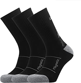 Cushion Crew Socks, Manords Socks for Men&Women(3 Pairs) (Black)