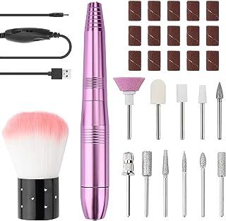CNXUS Elektriska nagelfilar, USB elektrisk nagelborr, nagelfilar professionell nagelborr för akryl nagelgel, kompakt elekt...