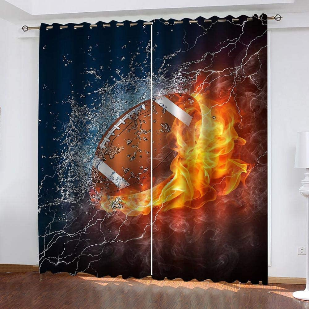 Branded goods Blackout Curtain for Kids 2 Panels Max 67% OFF Rugby Therma Super Soft Flame