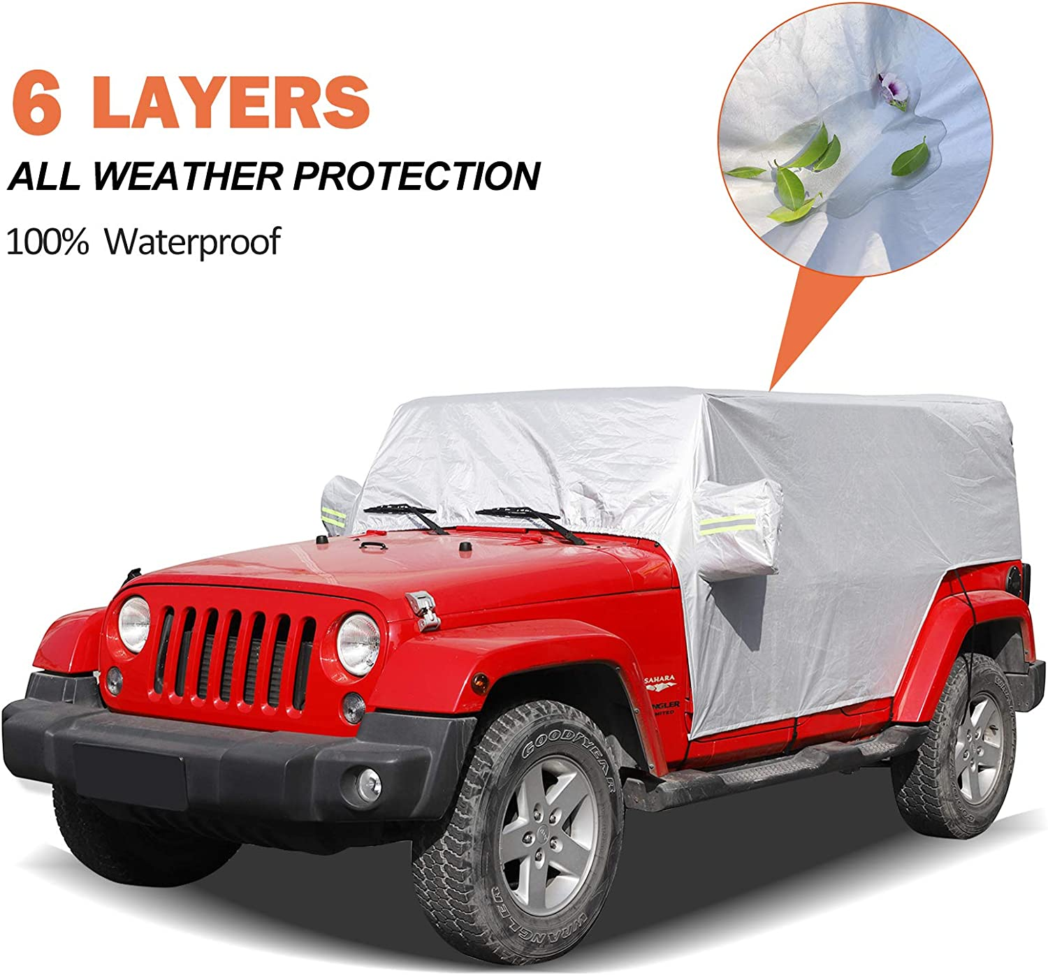 Large special price !! RT-TCZ Long Beach Mall Car Rain Sunshade Cover for 2007-2020 JK Wrangler JL Jeep