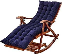 Sun Lounger Garden Chairs Foldable Deck Chair Sun Loungers Reclining, Foldable Adult Nap Portable Bamboo Rocking Lounge Ch...