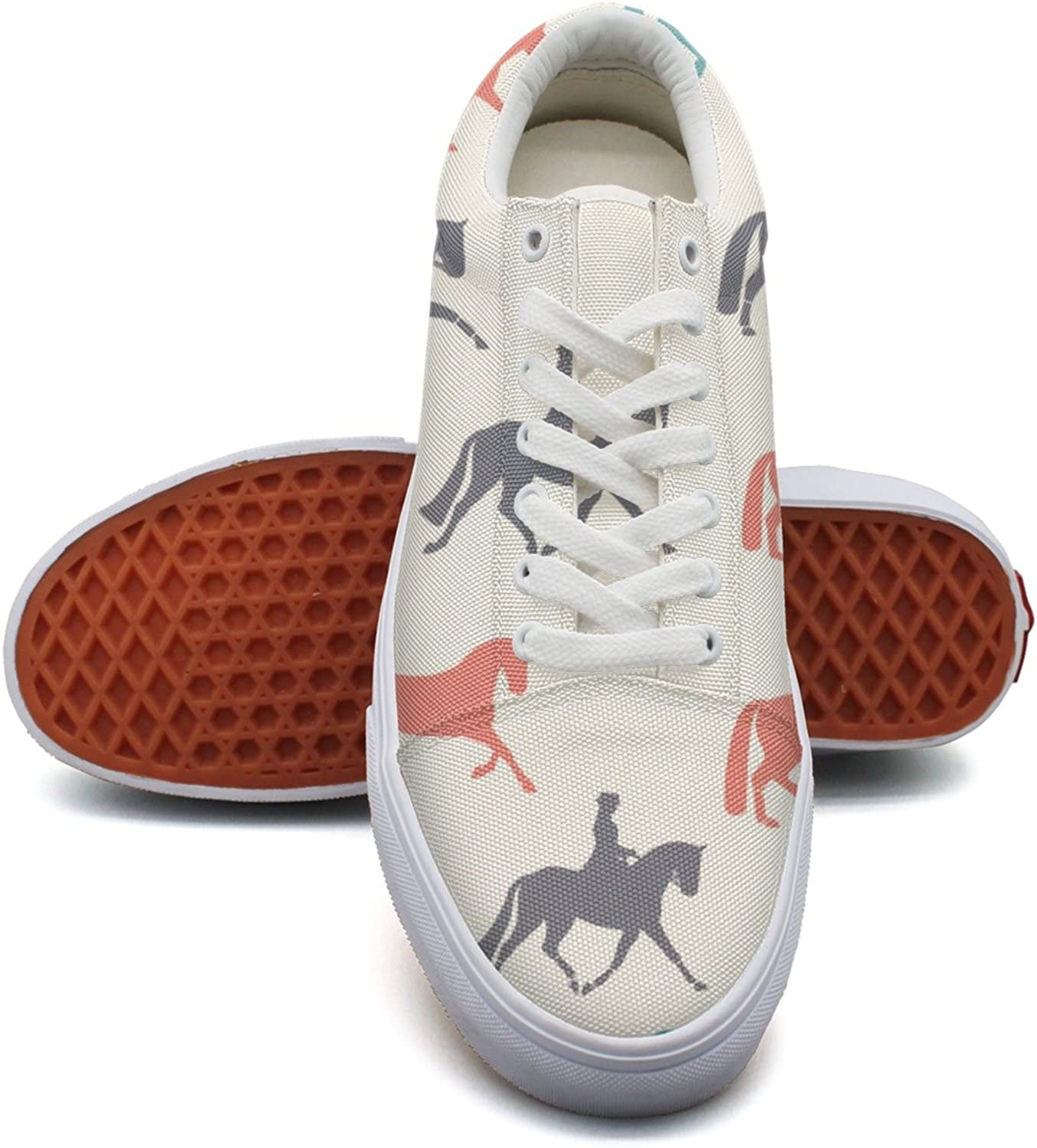 Horse Pattern Simple Style Women's Casual Sneakers shoes Footwear Cool Cute Designer