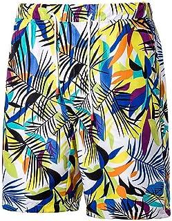 e03fa60895 WAWAYA Mens Casual Pockets Drawstring Printed Boarshorts Beach Shorts Swim  Trunk