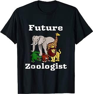Future Zoologist T Shirt Animal Life Kids Genius Students