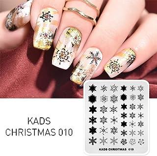 KADS クリスマスネイルアートスタンピングプレート ネイルイメージプレート 美しい雪花 ネイルアートツール(CH010)