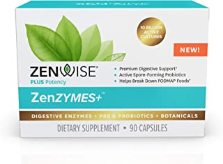 Daily Digestive Enzymes + Pre & Probiotics - Plus Organic Botanicals - 10 Billion Active Cultures - Supports Optimum Gut H...