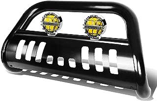 For Ford Explorer U502 3 inches Black Bull Bar+6 inches Chrome Housing Amber Lens Fog Lights