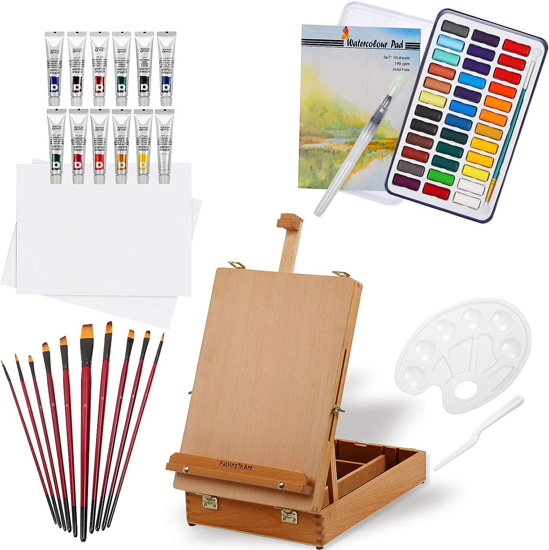 出群 Falling in Art 27 Piece 期間限定の激安セール Acrylic Painting 12 Set 36 of Co Colors