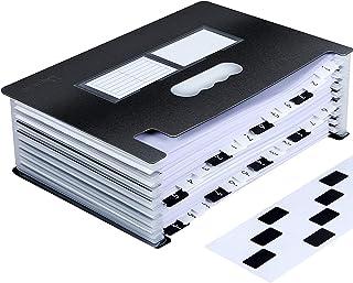 Uquelic Trieur Accordeon A4 24 Compartiments,Conception de Piano, Portable/Bureau Debout Range Document Classeur Trieur Po...
