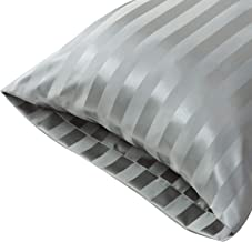 Treely Body Pillow Cover Satin Pillow Protectors 20x54 Body Pillow Case, Grey, 2 Packs