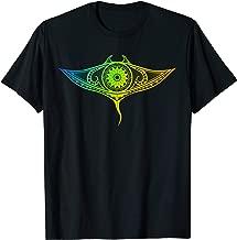 Shirt Manta Ray Polynesian Art Maori Hawaii Tropical Color