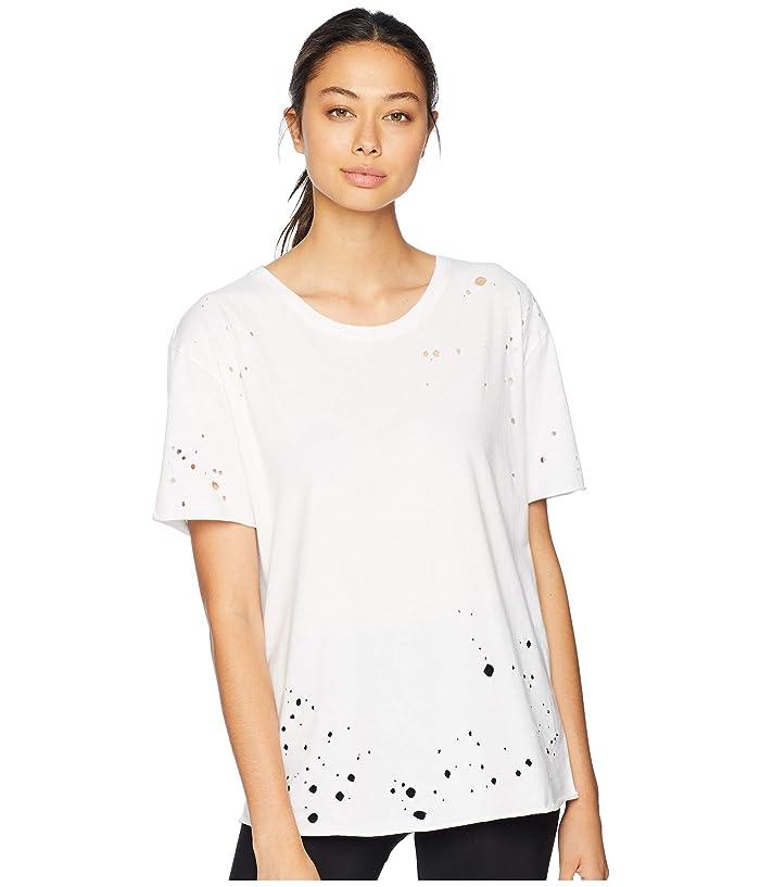 ALO Distressed Tee (White) Women's T Shirt