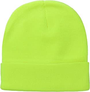 Falari Men Women Knitted Beanie Hat Cap Warm Solid Color Great for Winter
