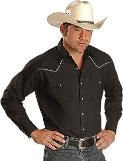 ELY CATTLEMAN Men's White Piped Yoke Long Sleeve Western Shirt