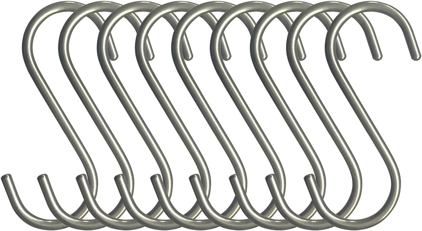 RuiLing Cheap super special price 10-Pack S Shaped Hooks Genuine Polished Solid Heavy-Duty sold out