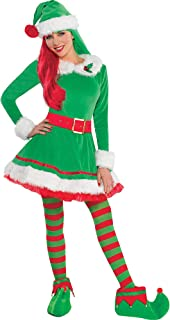 Amscan Green Elf Costume for Women, Christmas Costume, Large, with Included Accessories