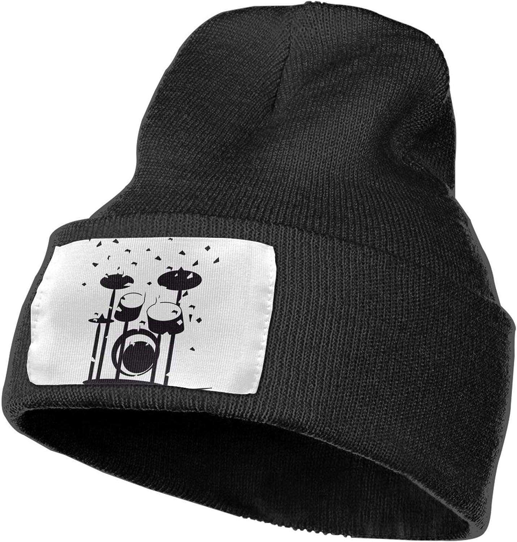 Fuuya Winter Beanie Hat Drums Knit Cap for Men Women Black