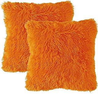 MIULEE Juego de 2 Cojines Protectores Faux Fur Throw Funda