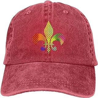 Denim Cap Fleur De Lis Mardi Gras Baseball Dad Cap Adjustable Classic Sports for Men Women Hat