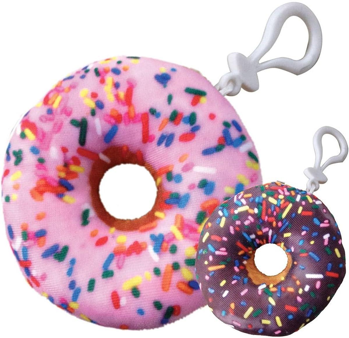 iscream Pink/Chocolate Donut Mini Microbead Pillow Backpack Charm
