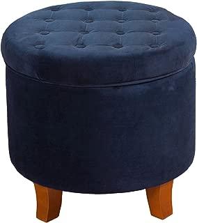 navy blue vanity stool