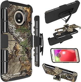 Moto E4 Case, Zoeirc [Heavy Duty] Armor Shock Proof Dual Layer Phone Case Cover with Kickstand & Belt Clip Holster for Motorola Moto E4 / Moto E (4th Generation) (camo)