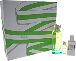 Hermes Un Jardin Sur Le Nil by Hermes for Women - 3 Pc Gift Set  EDT Spray 180ml