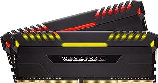 CORSAIR VENGEANCE RGB 16GB (2x8GB) DDR4 3600MHz C18 Desktop Memory - Black