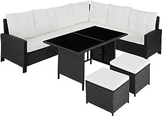 TecTake 800753 Conjunto Muebles de Jardín Ratán para 8