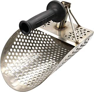 #N/A Beach Sand Scoop with Handle for Digging, Metal Detecting Tool, Stainless Beach Diving Sand Shovel, Treasure Hunting ...