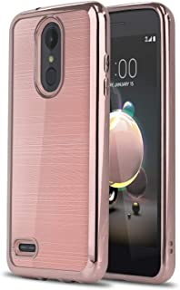 Phone Case for [LG Rebel 4 LTE (L212VL, L211BL)], [Chrome Series][Rose Gold] Shockproof Soft TPU [Electroplated Bumper] Cover for LG Rebel 4 (Tracfone, Simple Mobile, Straight Talk, Total Wireless)