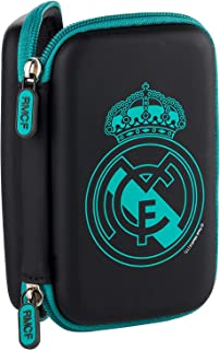Real Madrid RMDDP002 - Funda Disco Duro Pequeña Escudo Negro
