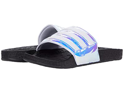 adidas Adilette Boost Slides (Iridescent/White/Black) Athletic Shoes