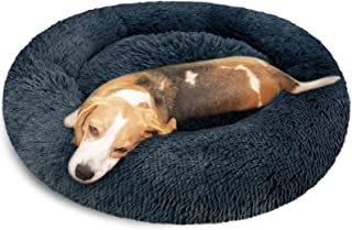 """KROSER 24""""/32""""/40"""" Donut Dog Cat Bed Washable & Self-Warming Round Pet Bed Deluxe Soft Plush Calming Donut Cuddler Cushion..."""