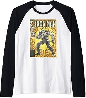 Avengers Iron Man Return Of The Original Comic Cover Raglan Baseball Tee