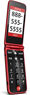 Jitterbug Flip Easy-to-use Cell Phone for Seniors (Red) by GreatCall