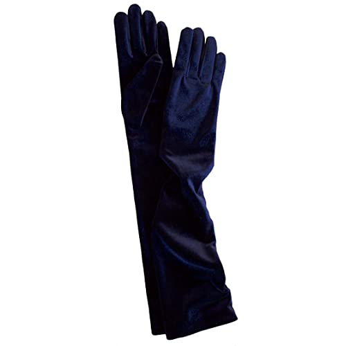 7b01ad598 Dents Long Soft Stretch Velvet Evening Dress Gloves