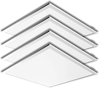 LED 2 x 2 Ft Recessed LED Panel Light Ceiling White Frame 40W 4000K Dimmable - 4Pack