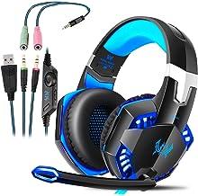 Auriculares Gaming con Microfono, Cascos Gaming, Auriculares para Juegos para PS4 / PC/Xbox One/Switch/Tableta/Celular, He...