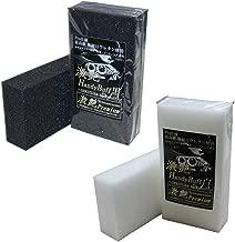激艶Premium 高密度ウレタンスポンジ-ハンディバフ 黒×2個・白×2個SET DFU01