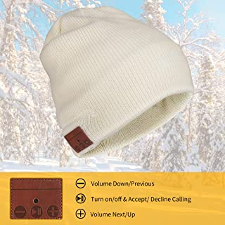 INTSUN Beany Hat with Wireless Stereo Headphones, 4.2 Bluetooth Knit Beanie Hats for Men & Women Rechargeable Battery Hat Speaker Mic for Outdoor Sports Running Skiing Skating Hiking