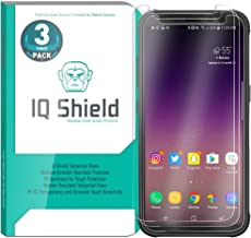 IQ Shield Glass Screen Protector Compatible with Samsung Galaxy S8 Active (3-Pack) Clear Tempered Ballistic Glass HD and Transparent Shatter-Proof Shield, 99% Touch Accuracy